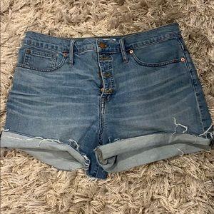 Madewell cut off denim shorts